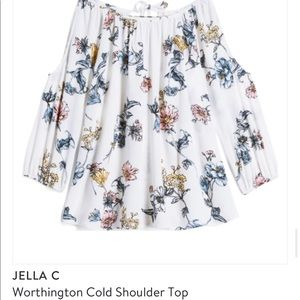 Jella C Worthington Cold Shoulder Top - Medium